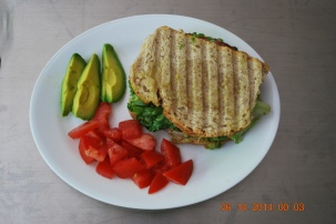 Avocado & Bacon Panini